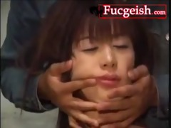 cute japanese cutie is bondaged during the time