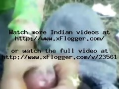 indian teenage babe giving oral stimulation and