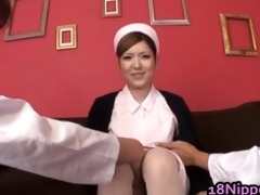 hot legal age teenager oriental nurse enjoys