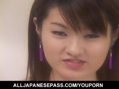cute japanese legal age teenager plays with her
