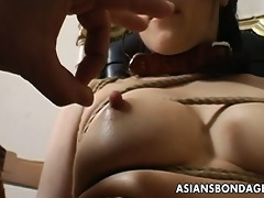 bizarre thraldom and sextoy fuck for an oriental
