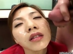 breathtaking office lady in indecent bukkake part1