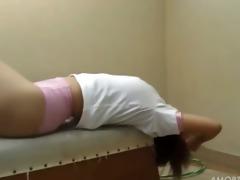 amateur student disrobe on the floor