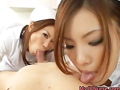 sexy oriental nurses have a fun playing part5