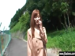 hot japanese sexy model cutie flashing and