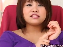 oriental model is showing off her large part10