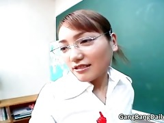 hawt oriental teacher sucks weenie and receives