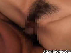 fastened up oriental honey gets screwed long and