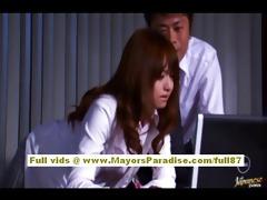 akiho yoshizawa chinese hotty gets abased at work