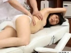 shy japanese schoolgirl with tiny melons has